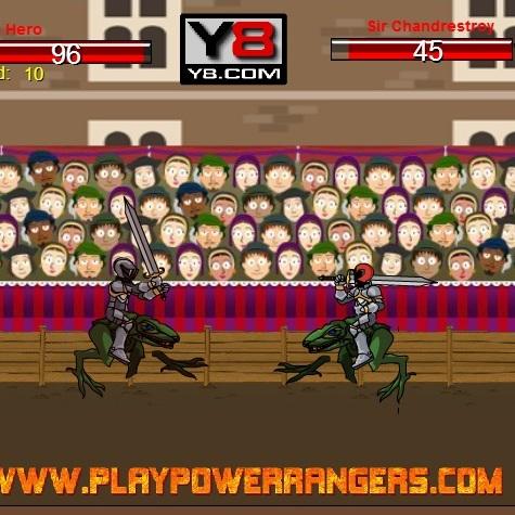 Могучие Рейнджеры рыцарское сражение