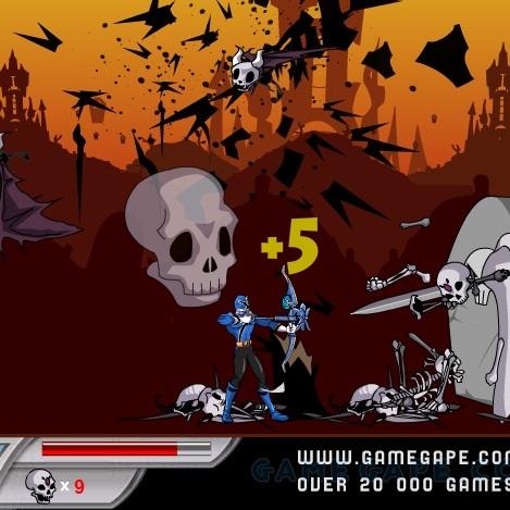 Могучие Рейнджеры против скелетов