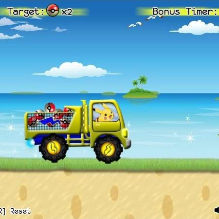 Покемон Пикачу на грузовике