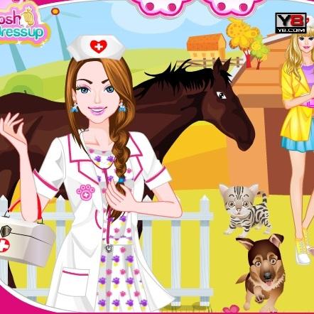 Макияж для Барби ветеринара
