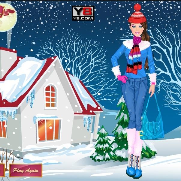 Зимний стиль Барби