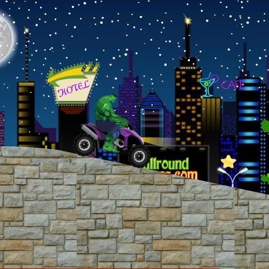 Халк гонка по ночному городу