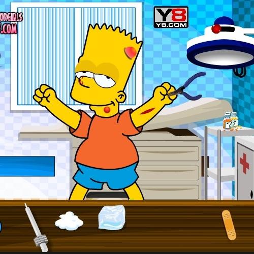 Барт Симпсон в больнице