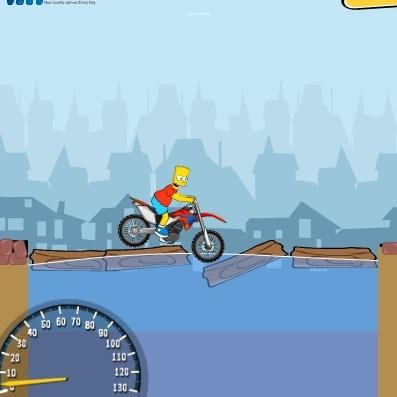 Симпсоны Барт мотогонщик