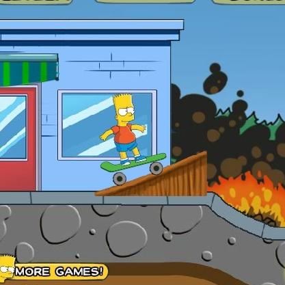 Симпсоны Барт скейтбордист
