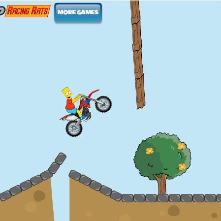 Симпсоны мотокросс Барта