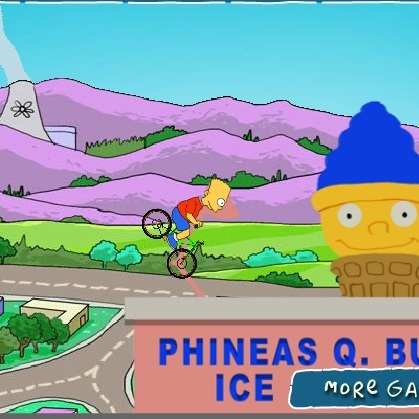 Барт Симпсон трюки на велосипеде