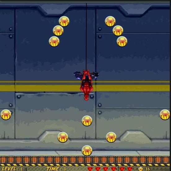 Человек-паук собирает монеты