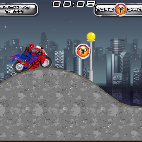 Человек-паук мото гонщик