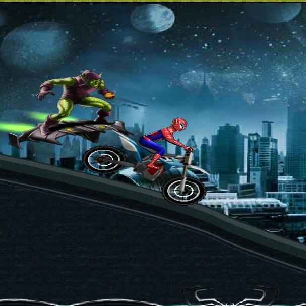 Человек-паук побег от зеленого гоблина