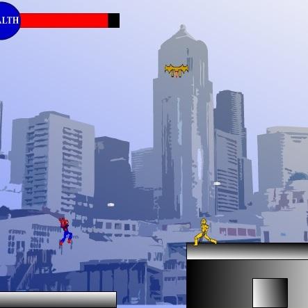 Человек-паук борется с злодеями