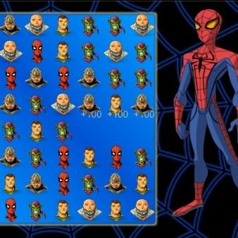 Человек-паук три в ряд