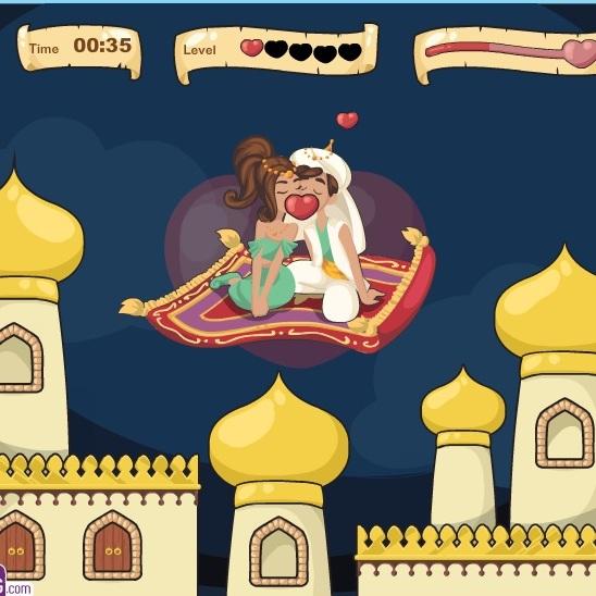 Поцелуи на ковре Алладина и Жасмин
