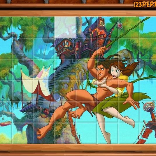 Тарзан и Джейн пазл плитки