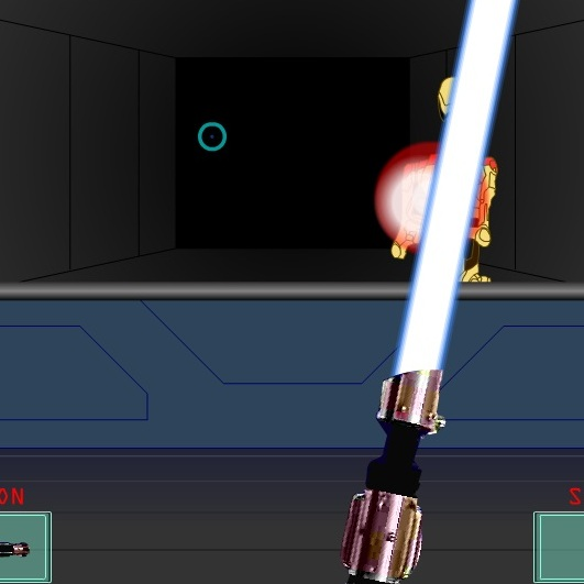 Звёздные Войны защитись лазерным мечом