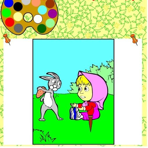 Раскраска Маша и Заяц