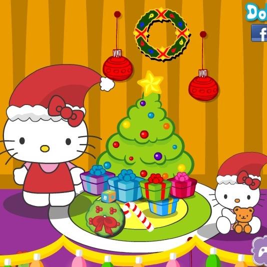 Хелло Китти в рождество