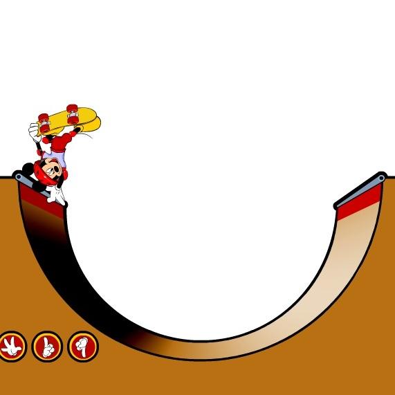 Мики Маус на скейборде
