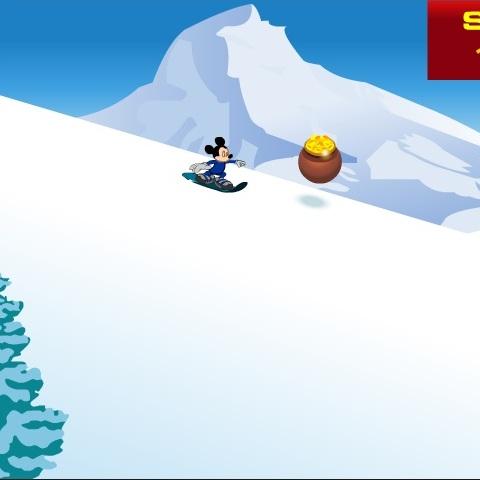 Мики Маус сноубордист