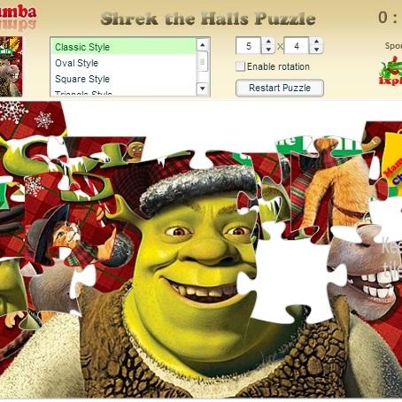 Пазл Шрек в рождество