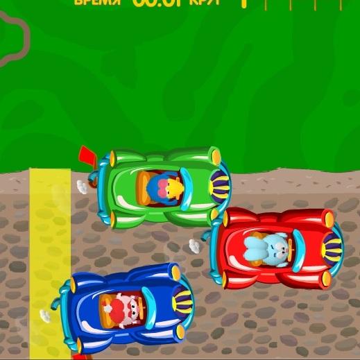 Смешарики гонки на машинках