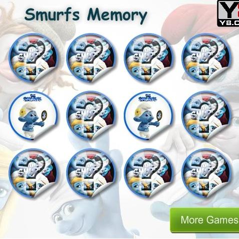 Тренируем память вмести со Смурфиками