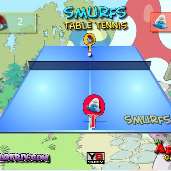 Смурфики игра в настольный тенис
