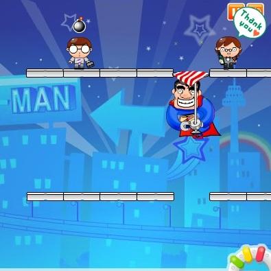 СуперМен спасает дитей
