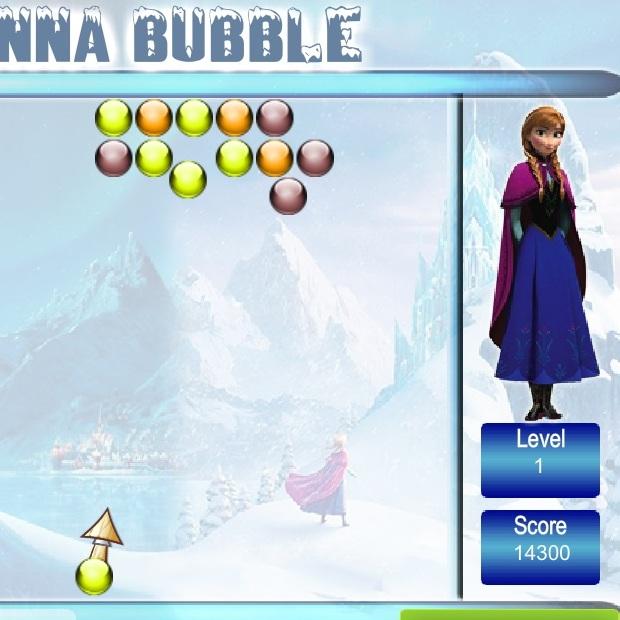 Холодное Сердце Анна стреляет по пузырям