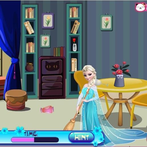 Холодное Сердце уборка комнаты Эльзы