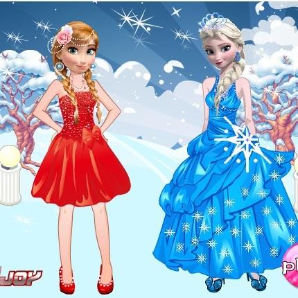 Холодное Сердце одень Анну и Эльзу