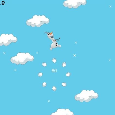 Холодное Сердце прыжки в облака Олафа