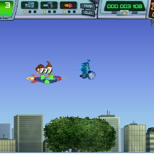 Джимми Нейтрон полёт на ракете