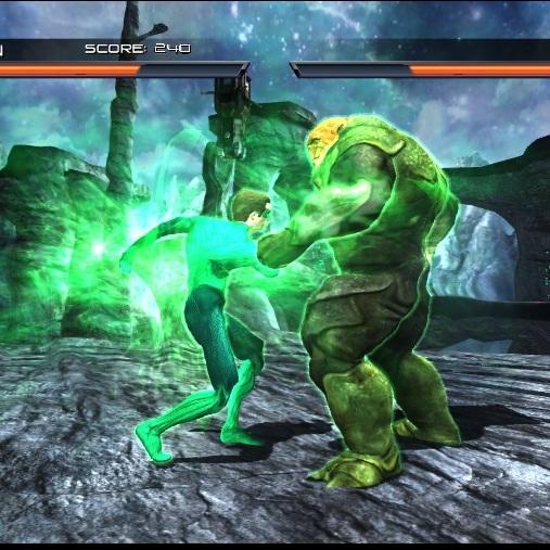 Зелёный Фонарь бой в 3 D
