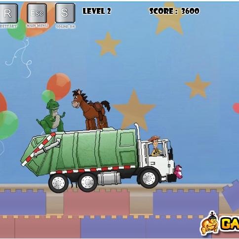 История Игрушек гонка на грузовике