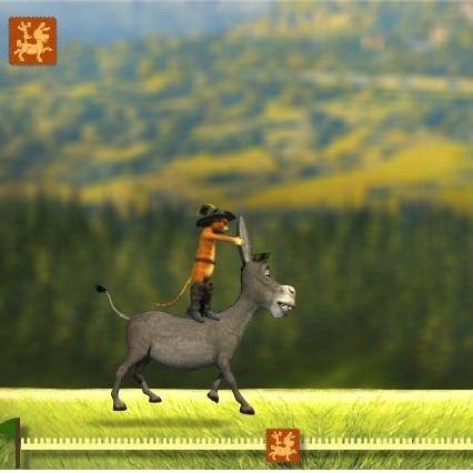 Кот в Сапогах гонки на осле