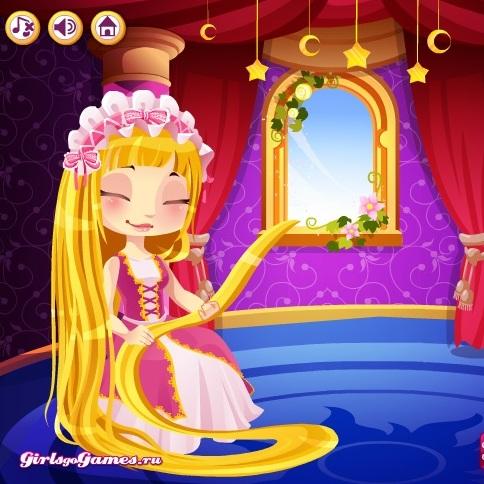 Причёска принцессы Рапунцель