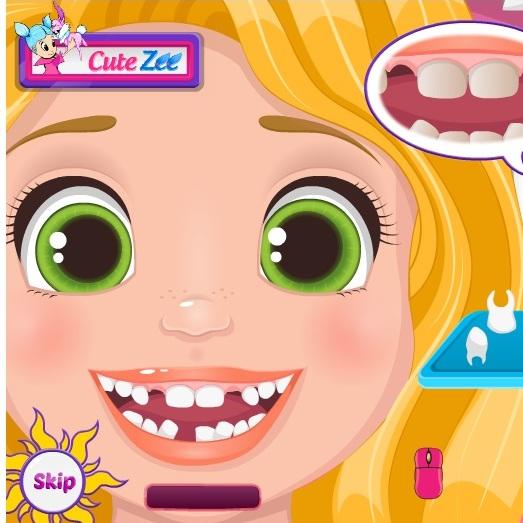 Малышки Рапунцель у дантиста