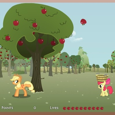 Литл Пони ловим яблоки