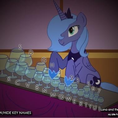 Литл Пони игра на стаканах Луны