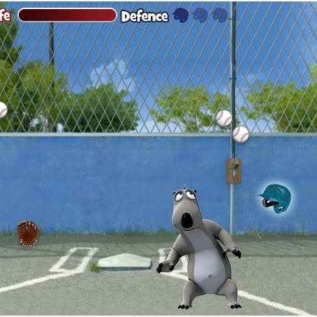 Бернард увернись от бейсбольных мячей