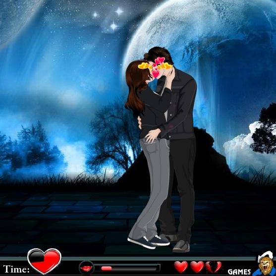 Сумерки поцелуи по луной