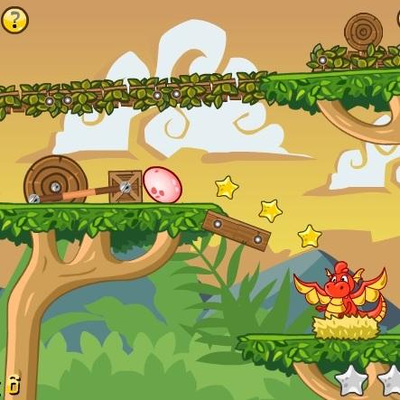 Динозавр ловит яйцо