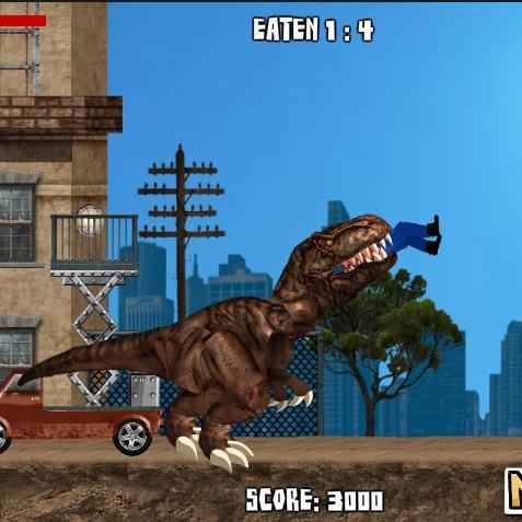 Динозавр Рекс в Нью-Йорке