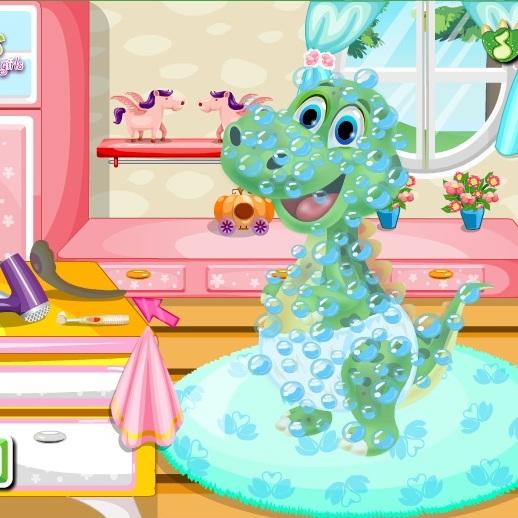 Малыш Динозавр в салоне красоты