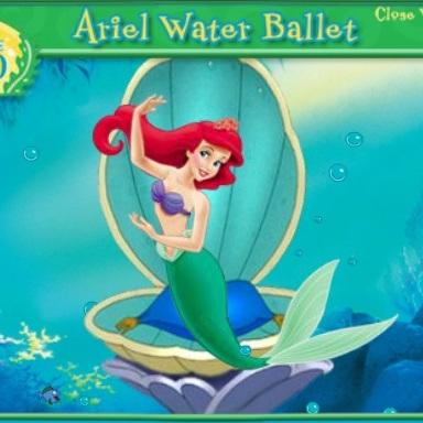 Русалочка танцы под водой