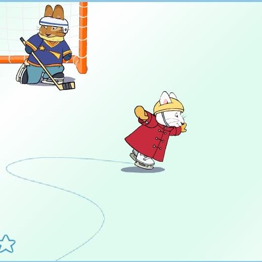 Макс и Руби катание на коньках