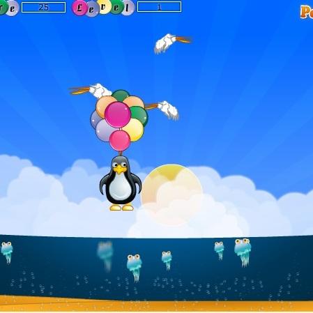 Пингвинёнок на воздушных шарах