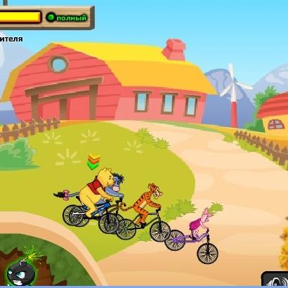 Винни Пух велогонщик
