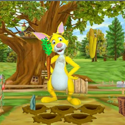 Винни Пух сбор урожая Кролика